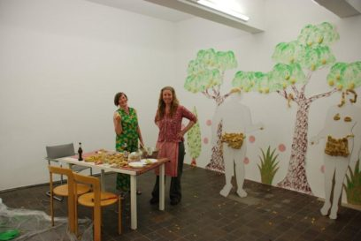 Adam und Eva mit Anja und Dineke im Paradies 2009