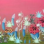Botanische Tuin 3 2005 - Mixed Media on canvas - 40x50 cm