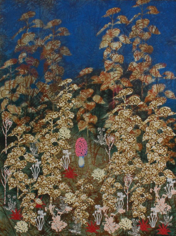 Botanische tuin 8 2008 – mixed media on canvas – 90x110cm