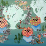 Botanische Tuin 1 2005 - Mixed Media on canvas - 40x50 cm