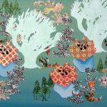 Botanische Tuin 1 2005 - Mixed Media on canvas - 40x50 cm