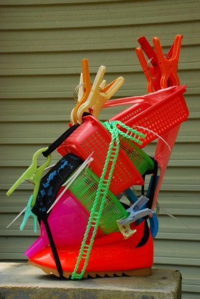 Cheng – 2015 – shoe, textile, plastic utensils, tie-wraps