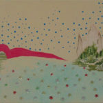 Chinees Landschap 2004 - Mixed Media on canvas - 45x90 cm