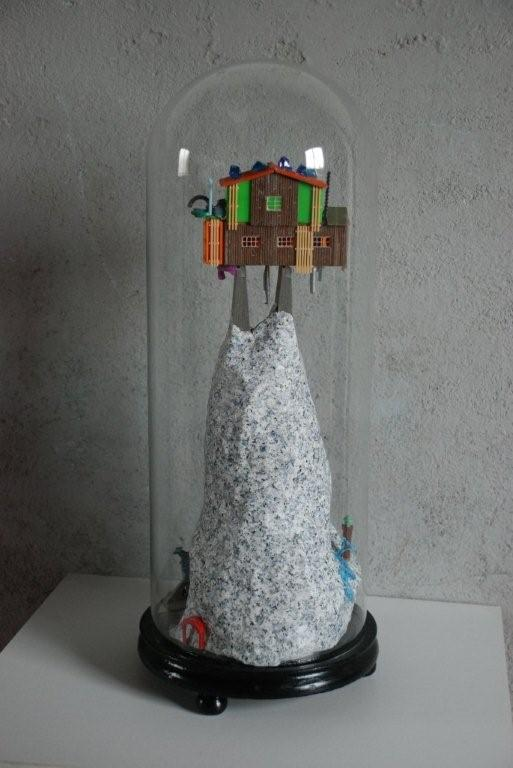 Geheimzinnige Berg 2008- mixed media