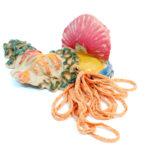 Keramisch landschap 1 2015 - ceramics, textile - 29x56x55cm