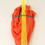 Soft sculpture 4 2015 - textile, plastic utensils- 66x21x32cm