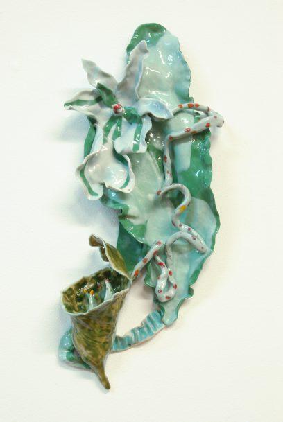 Vleeseter 2 2018 – porcelain, glaze, pigment –